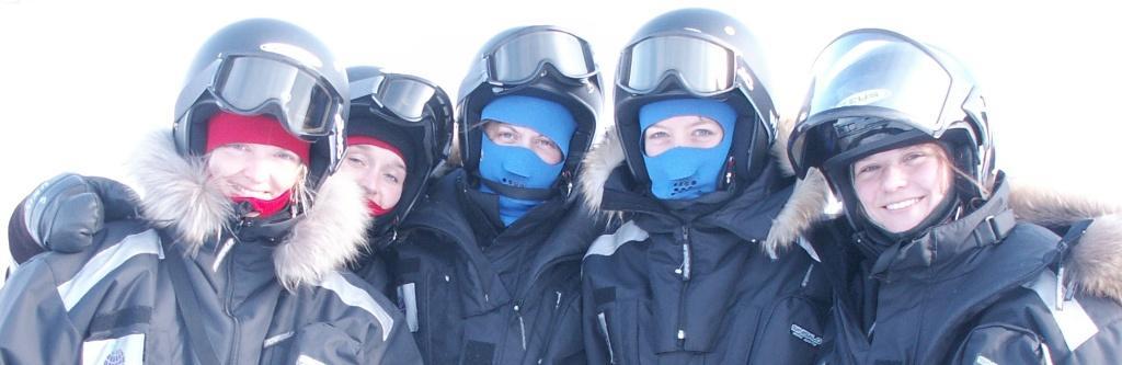 Girls at fieldwork